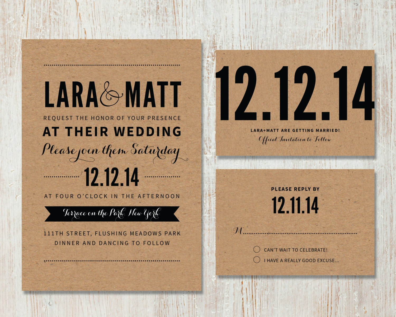 Rustic Diy Wedding Invitations: Rustic Wedding Invitation And RSVP DIY By PaperRouteCollective