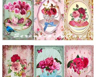 A Cup of Roses Tags.