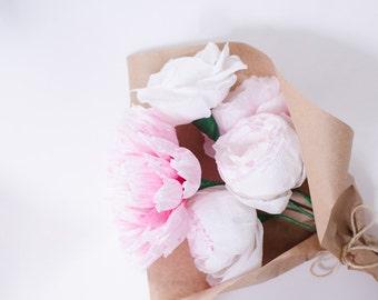 Paper Flower, Paper Flowers, Paper Peony, Wedding bouquet, bridal bouquet, wedding decor