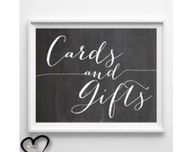 Cards and Gifts Wedding Sign. Chalkboard Cards and Gifts. Wedding Sign. Chalkboard Wedding. Cards and GIfts. 5x7. 8x10.