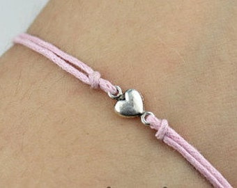 Pink Love Friendship Bracelet