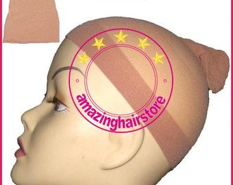 12pcs Durable Fleshtone / Nude Stocking Wig Cap Liner 4 Lace Front Human Hair Wig