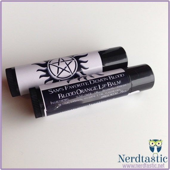 Supernatural Demon Blood Lip Balm Tube (Geek Makeup)