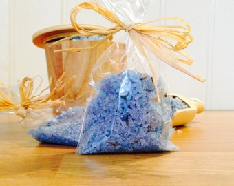 Handmade Dead Sea Bath Salts with Natural Dried Flowers or Petals