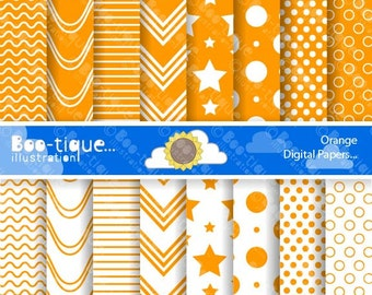 Orange Digital Scrapbook Papers for Instant Download. Orange Digital Papers. Orange Scrapbooking Papers. Polka Dots Papers. Stripes Papers.