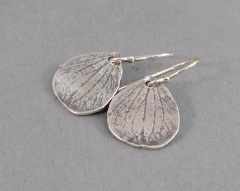 Sterling Hydrangea Leaf,Earrings,Hydrangea,Silver Earrings,Silver Leaf Earrings,Nature,Leaf,Leaves,Sterling Silver Earrings.SeaMaidenJewelry