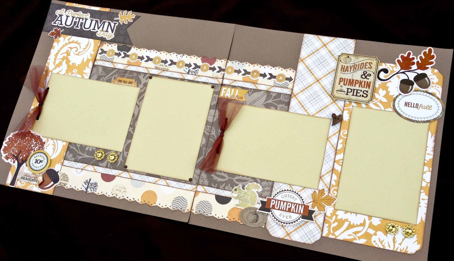 Scrapbook Page Perfect Autumn Day Themed Kit Diy