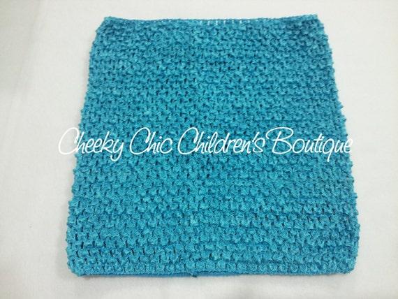 10x9 inch TURQUOISE Crochet Tutu Dress Tube Top [CB10TQ]