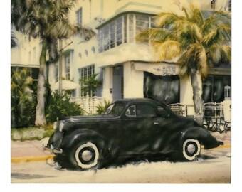 Old Car photography Polaroid SX 70 Manipulation Alternative fine art
