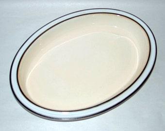 """Vintage 1970 DENBY Pottery Madrigal 12"""" Oval Deep Dish Platter"""