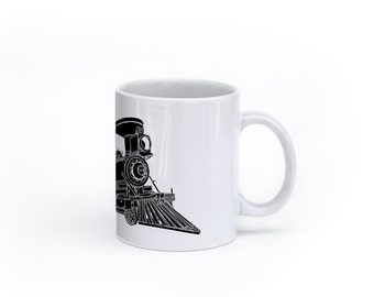 KillerBeeMoto:  U.S. Made Train Locomotive CPR Steam Engine No 374 Coffee Mug (White)