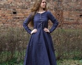 Custom order - Medieval Dress Cotte Simple laced-up, XV century, reenactment