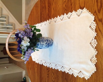 Vintage Pure Linen Table Runner