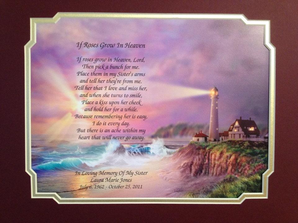 Poems Sister in Heaven in Heaven Memorial Poem