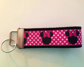 Key Chain- Minnie Mouse inspired