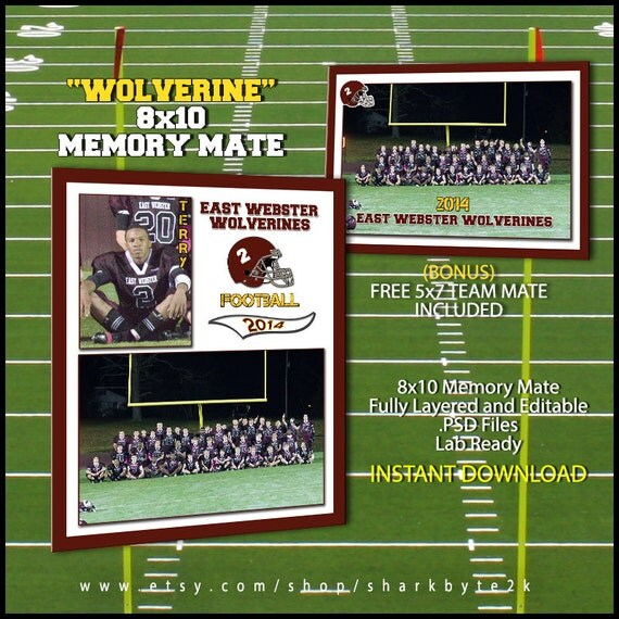2017 football sports memory mate template for photoshop. Black Bedroom Furniture Sets. Home Design Ideas