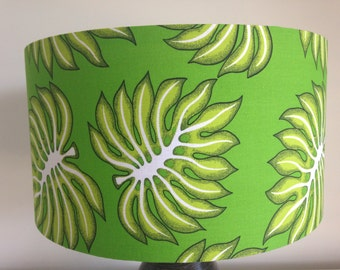 Green Monsterio leaf print lampshade (FREE SHIPPING)