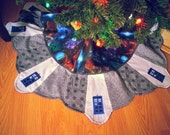 "Dr. Who -TARDIS - Sci Fi Inspired -  Patchwork Tree Skirt - 38"" - BBC - PinkCastleTradingCo"
