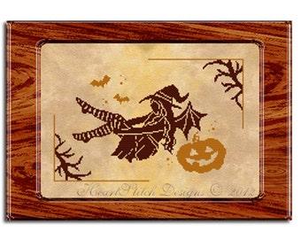 Halloween Night's Fairy - cross stitch chart and kit