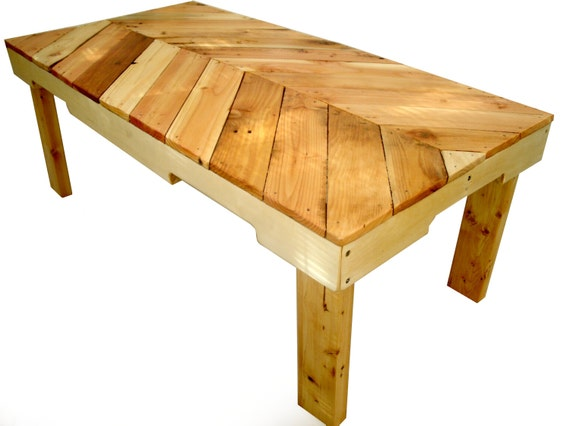 Items Similar To Different Pallet Coffee Table Natural Wood On Etsy