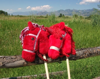 Red Stick Pony - Hobby Horse - Stick Horse