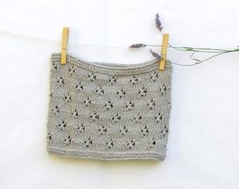 Light grey cotton scarf / Vegan clothing / Summer scarf / knit cowl