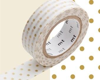 MT Dot S Gold Washi Tape • Small Gold Dots • MT Masking Tape