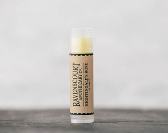Vegan Lip Balm 'Nightingale's Rose' - Scented with Rose