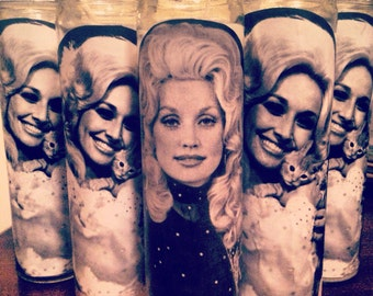 Dolly Parton magic candle by Stevie wicks