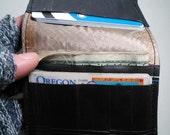 Three pocket, minimalist wallet
