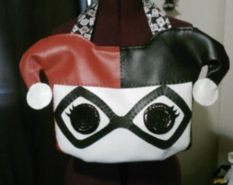 Pop funko inspired Harley Quinn purse.
