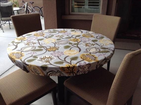 Custom Decorator Fitted Round Tablecloth Perfect For Your