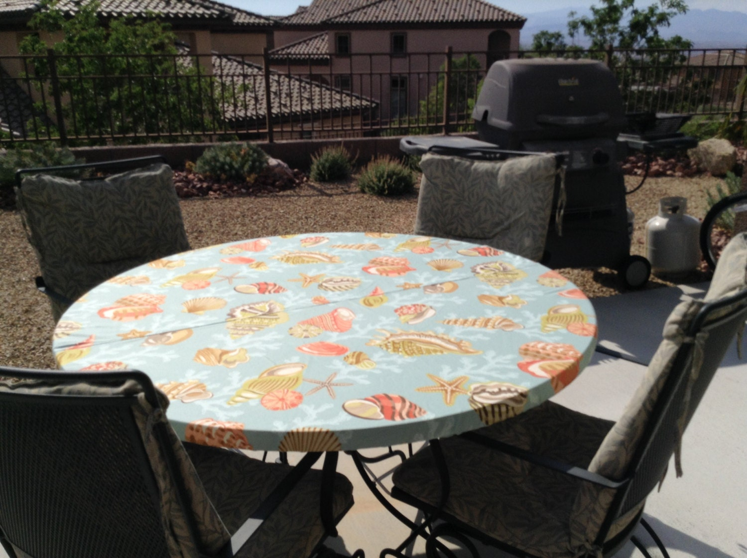 Ocean Themed Fitted Round Tablecloth For Your 5 Foot Or 60