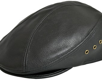 Leather Ascot Ivy Driver Cap Made in USA Various Colors