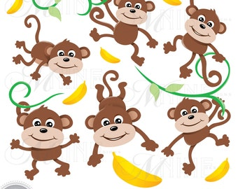 Clip Art Monkeys Clipart monkey clipart etsy monkeys clip art download zoo vector party animal graphics