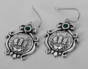 Earrings 925 Sterling Silver Cabochon Turquoise Earrings 100% Solid Fashion For Gift