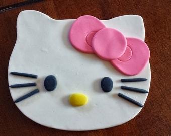 HELLO KITTY FLAT fondant cake topper!