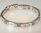 Natural 14K White gold men's bracelet 5.00 Carats   free ship  M107420