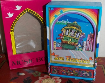 "Dancing Cable Car Music Box ""I Left My Heart in San Francisco"""