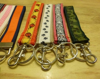"Strap Keychains with Spring Clips, 1"" Wide on Sturdy Webbing, Wristlet Key chain, Keychain, Key Chain, Wristlet"