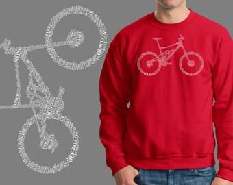 Bicycle Building Parts Bike BMX Biker Jersey Fleece Sweatshirt Sweater