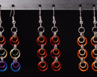 Colorful Chain Mail Earrings