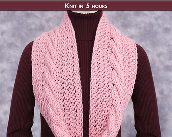 RING OF ROMANCE Knit Cowl Pattern [Digital File Download]