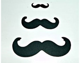 "100 Mustache Moustache Photo Booth Props Variety Pack - 3""- 2""-1"" (3015M)"