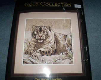 The Gold Collection:  The Snow Leopard (Cross Stitch Kit)