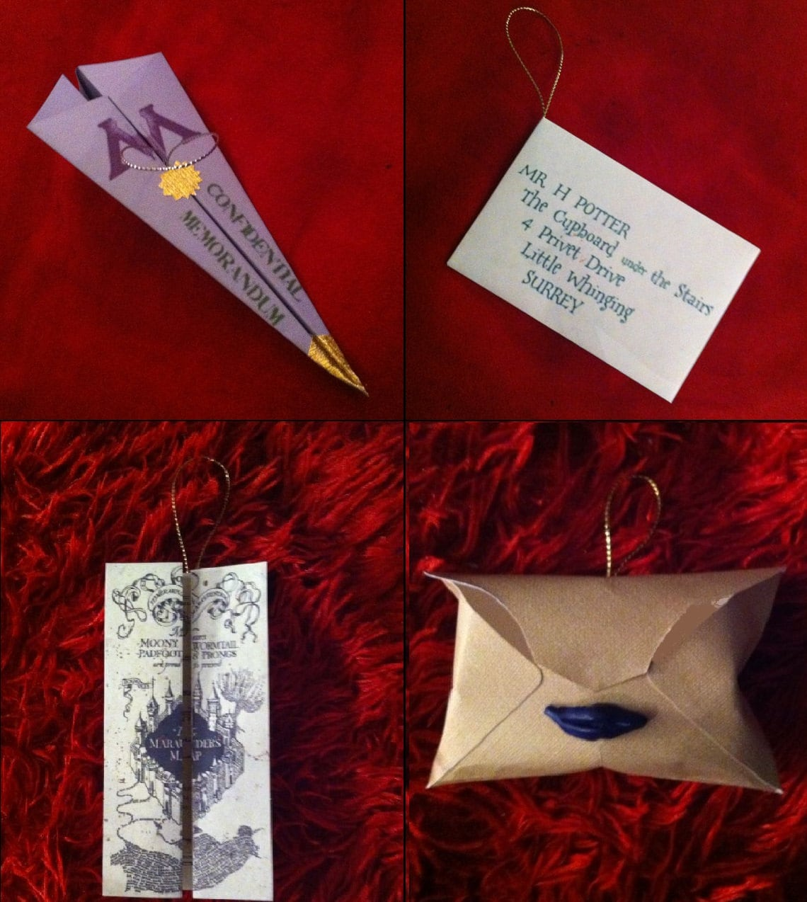 Harry potter christmas ornament -  Harry Potter Letters Christmas Ornament Zoom