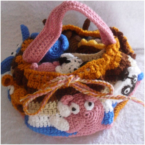 Crochet Pattern Safari Animal Skittles Bag by ...