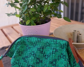 Beautiful Kantha Cosmetic Pouch