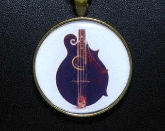 F-4  Black  Mandolin Pendant / Necklace