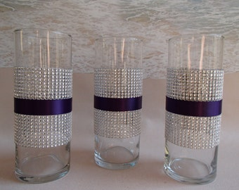 Set Of 3 Bling Vase Centerpieces Your Choice Of 7 5 Quot Or
